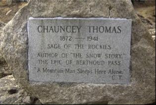 Chauncey Thomas memorial