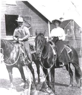 Gram Wood on horseback