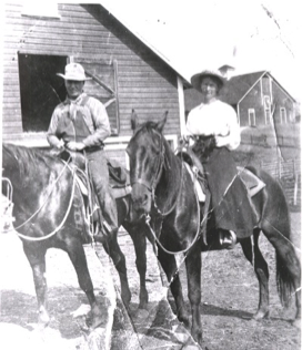 Gram Wood on horseback